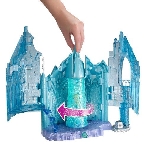 Frozen Palacio mágico Elsa cortina hielo giratoria