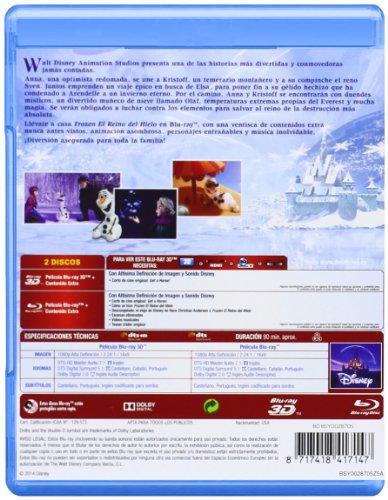 Frozen El reino del hielo 3D+2D Blu-ray contraportada