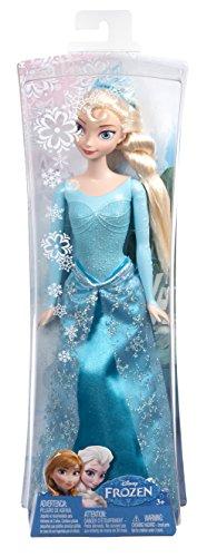 Caja Frozen muñeca Elsa purpurina
