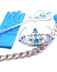Frozen conjunto de tiara y varita de Elsa con guante y trenza