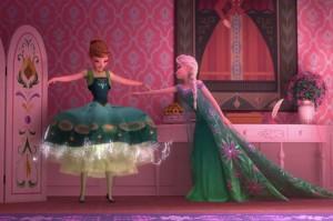frozenfever escena vestido Anna