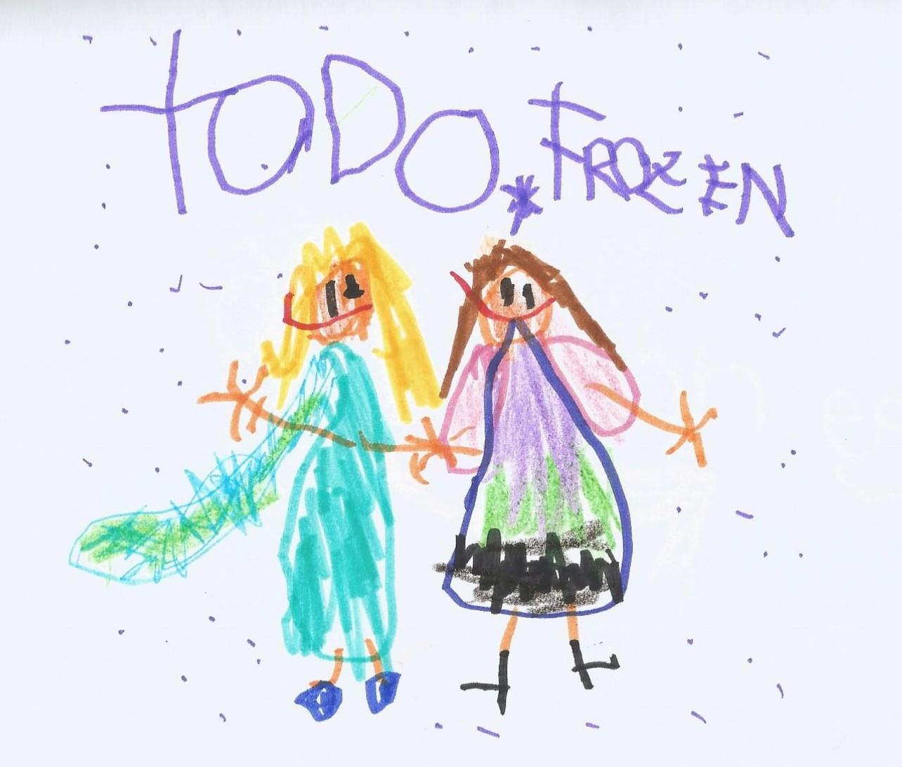 Dibujo pintado por un niño
