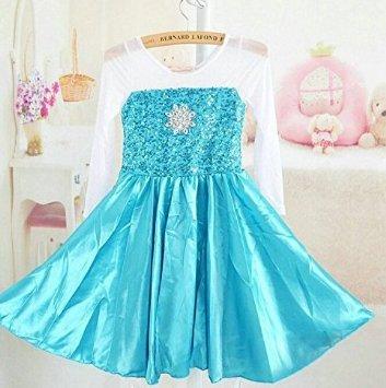 Disfraz Elsa largo con capa solo vestido