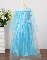 Disfraz Elsa Deluxe con capa atras capa