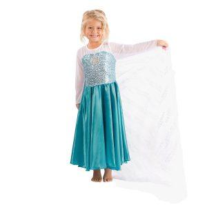 Disfraz Elsa capa extra larga