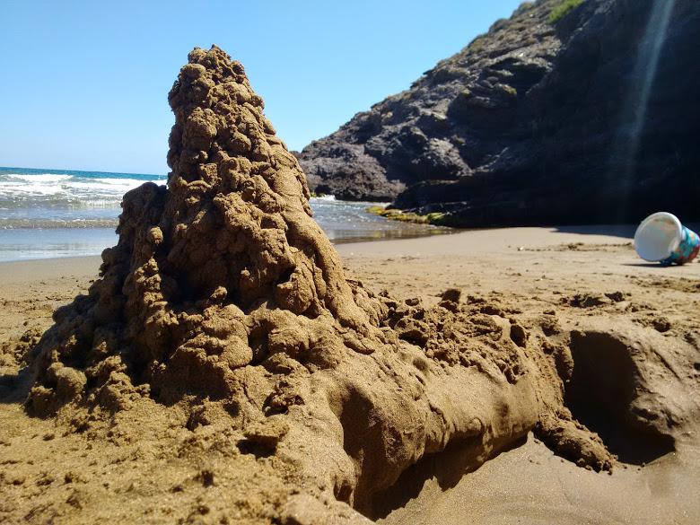 a la playa castillo_arena_Todo frozen
