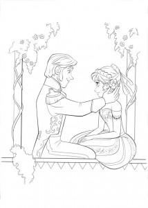 Dibujo Anna y Hans - Todo Frozen