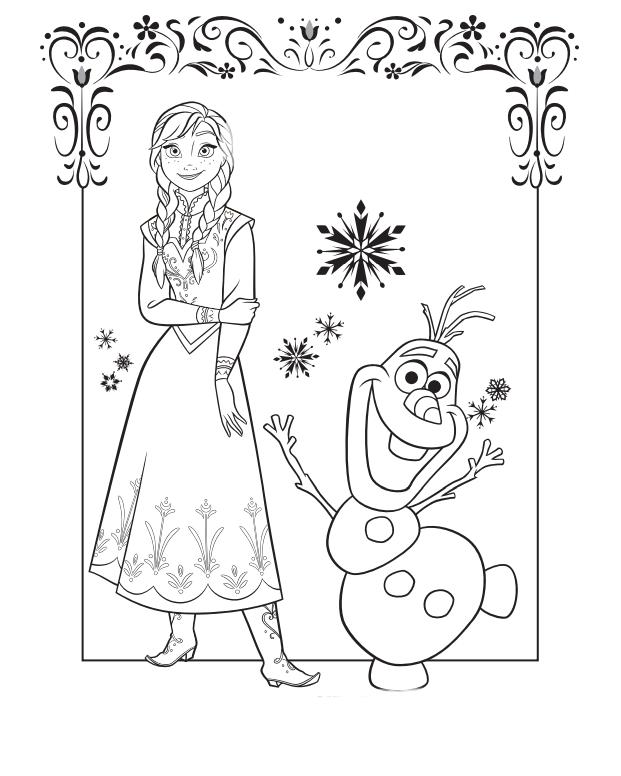 Dibuja Y Colorea Frozen Todo Frozen