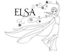 Dibujo Elsa - Todo Frozen