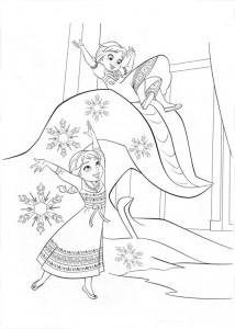 Dibujo Elsa y Anna pequeñas - Todo Frozen