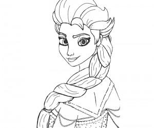 Dibujo Elsa2- Todo Frozen