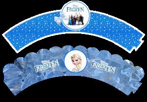 Envolvente Elsa cupcake - Todo Frozen