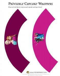 Envolvente Elsa y Anna Frozen cupcake - Todo Frozen