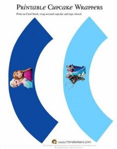 Envolvente Frozen cupcake - Todo Frozen