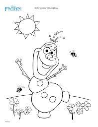 Dibujo Olaf - Todo Frozen