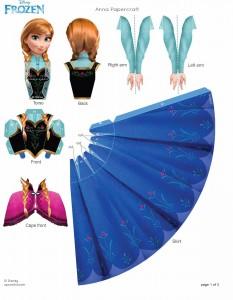 Recorta a Anna - Todo Frozen