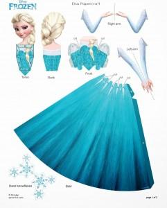 Recorta a Elsa - Todo Frozen
