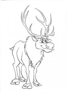 Dibujo Sven - Todo Frozen