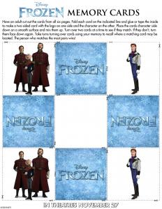 Tarjetas memory Frozen Hans - Todo Frozen