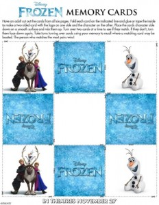 Tarjetas memory Frozen Olaf - Todo Frozen