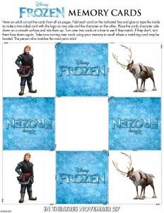 Tarjetas memory Sven y Kristoff - Todo Frozen