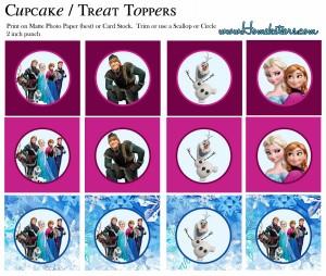 Toppers cupcakes 1 Frozen - Todo Frozen