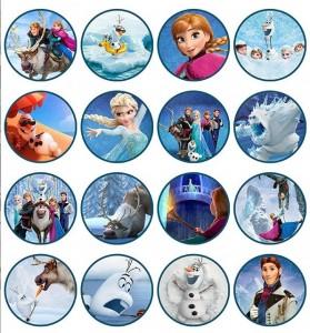 Toppers cupcakes 11 Frozen - Todo Frozen