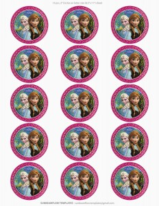 Toppers cupcakes 12 Frozen - Todo Frozen