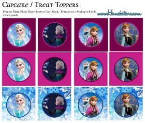 Toppers cupcakes 2 Frozen - Todo Frozen