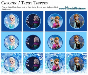 Toppers cupcakes 5 Frozen - Todo Frozen