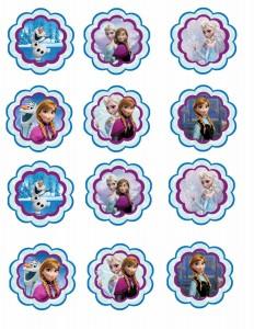 Toppers cupcakes 8 Frozen - Todo Frozen