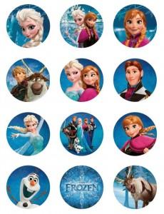 Toppers cupcakes 9 Frozen - Todo Frozen