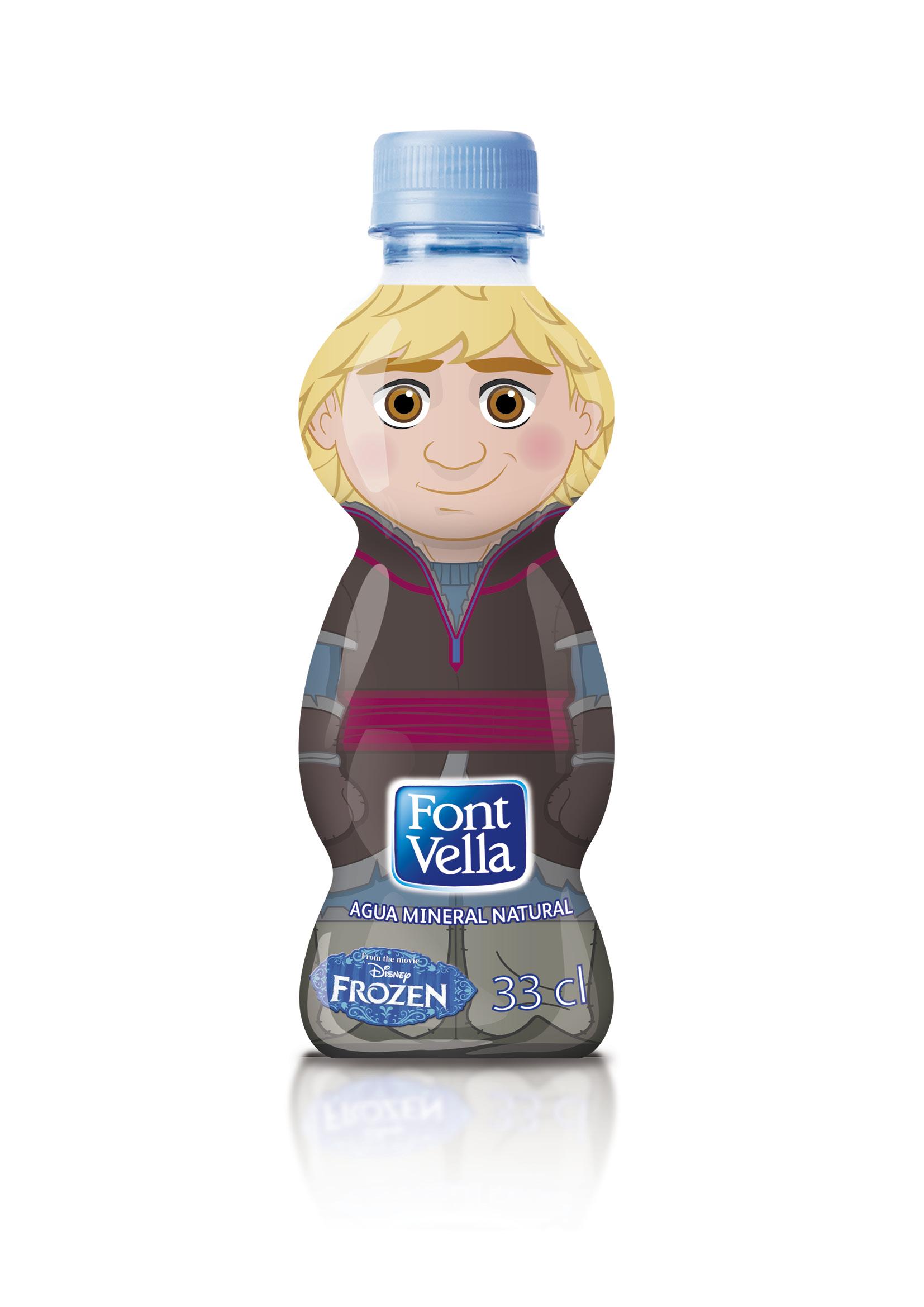 botella de agua pequeña modelo Kristoff