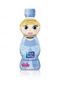 botella de agua font vella cenicienta