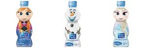 botella agua water elsa anna olaf - todo frozen
