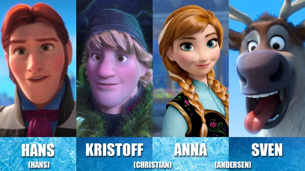 personajes frozen para juego Andersen