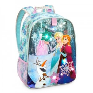 mochila colegio Frozen luz nombre