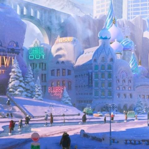 cameo Elsa y Anna en Zootrópolis