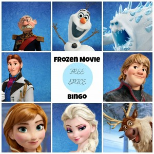 personajes frozen disney bingo