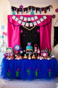 elsa y anna mesa cumpleaños
