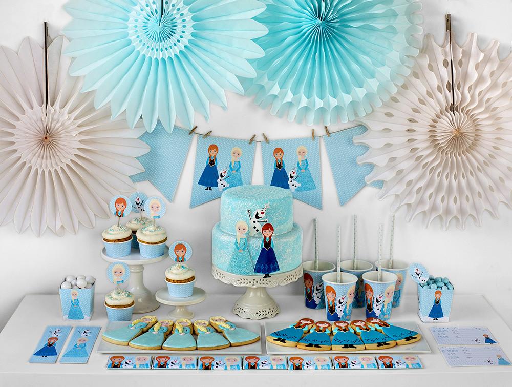 C mo hacer una fiesta frozen todo frozen - Cosas para decorar una fiesta ...