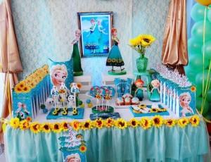 decoracion mesa cumpleaños frozen