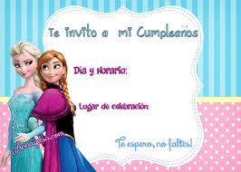 cumpleaños frozen invitacion