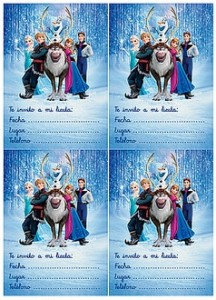 invitacion cumple frozen elsa y anna