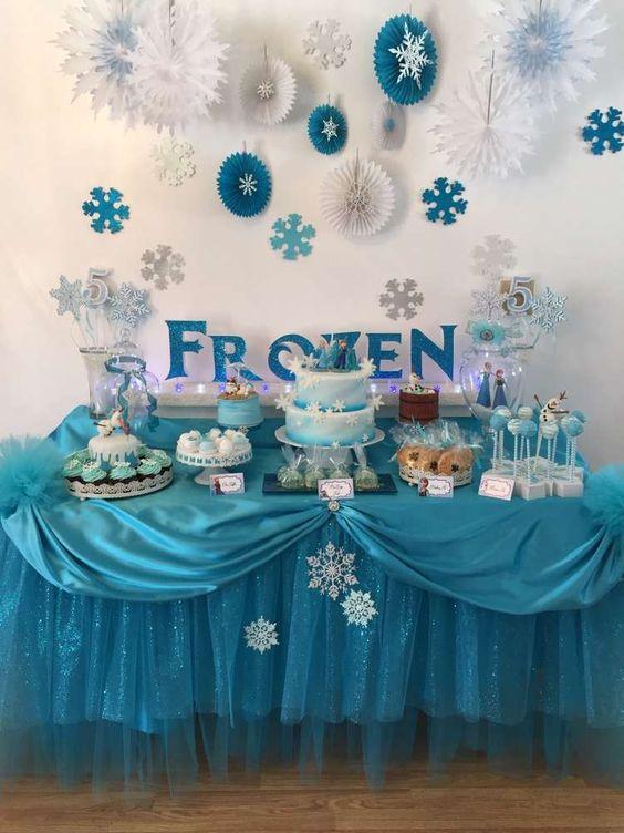 C mo hacer una fiesta frozen todo frozen - Ideas para decorar mesas de chuches ...